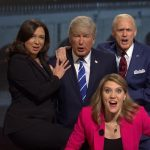 Watch: 'SNL' sketch flips channels between the town halls